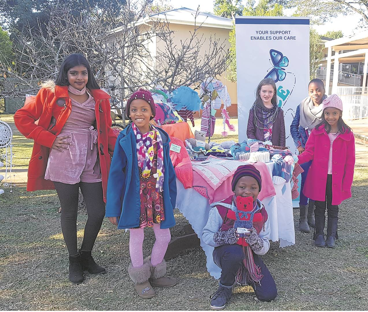 PHOTO: byrone athmanThe Msunduzi Hospice Association will be hosting their annual Winter Fair on July 27 from 8 am to 1 pm. Various activities will be available for the enjoyment of children including a kids corner with fun and games, face painting, a jumping castle, a variety of stalls with handmade crafts on sale, among other things. Entry to the fair is R5 per person. For any queries please contact Tanya Roux at 033 344 1560 or 082 699 9105. Showing their support for the Winter Fair are Irene's Models pupils (from left) Diya Ramchander, Andiswa Phewa, Sonwabile Jili, Prisha Padayachee, Noluthando Phewa, and Julie-Anna Sparrow.