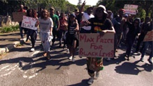 Fee increases will financially exclude students from working class backgrounds - UCT protesters