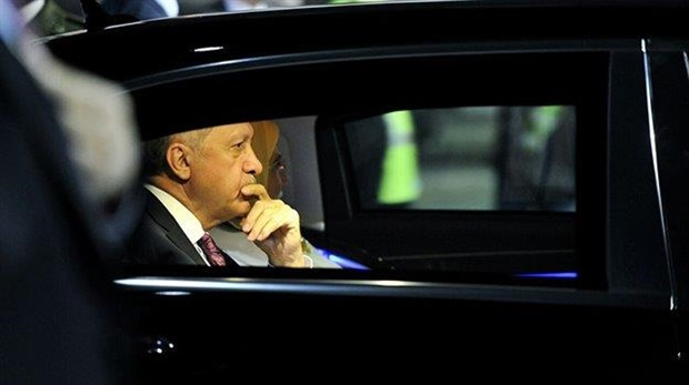 <em>Turkish President Tayyip Erdogan and his spouse arrive at the OR Tambo International Airport on 25 July 2018. (Photo: Dirco)</em>