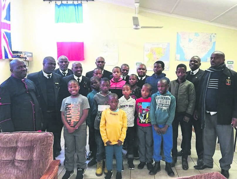 photo: supplied Senior members of the Lutheran Church with children from Greytown Child and Youth Care Centre.