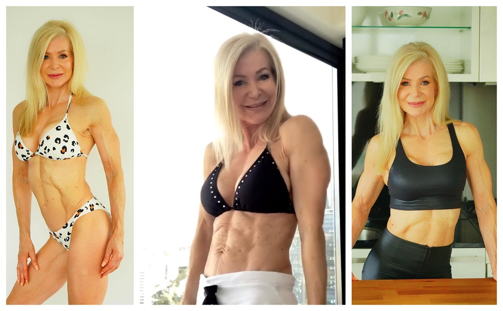 Lesley Maxwel. Images courtesy @lesleymaxwell.fitness / Caters News/ Magazine Features