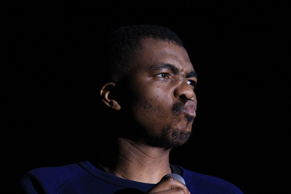 Loyiso Gola performs at Grahamstown Arts Festival on Monday July 2 2018. Picture: Harsheen Patel