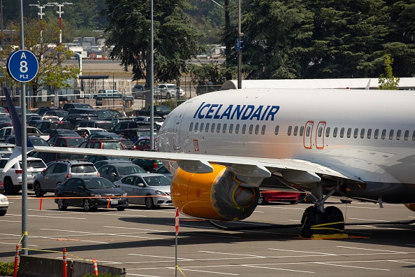 SEATTLE, WA - MAY 31: A Boeing 737 MAX airplane fr