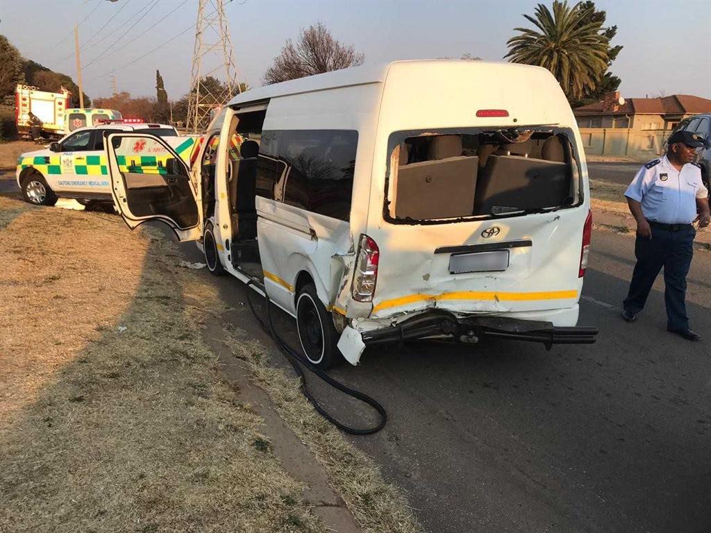 A taxi crash.