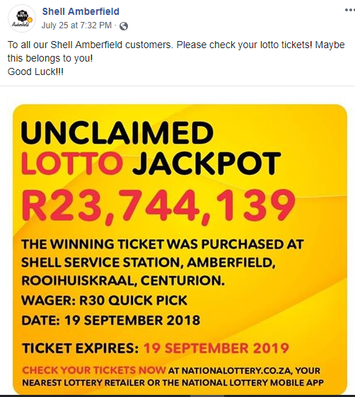 An Unclaimed ZAR 23 Mn Lotto Win May Soon End Up In SA Charities