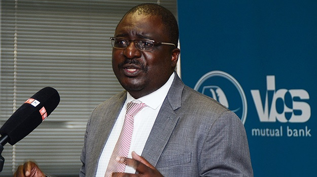 VBS Mutual Bank chairperson Tshifhiwa Matodzi during the signing of a partnership between the bank and Twelve Apostles Church in 2017. (File photo: Mduduzi Ndzingi, Sowetan, Gallo Images)