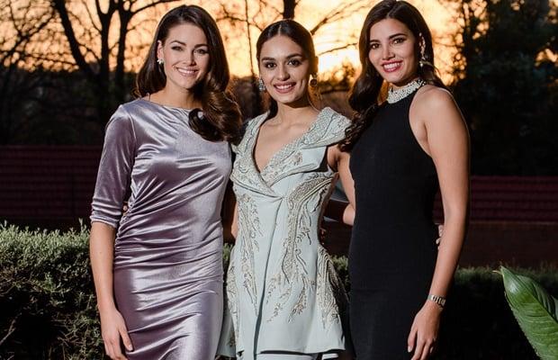 Rolene Strauss, Manushi Chhillar, Stephanie Del Va