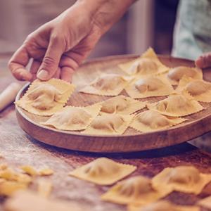 man making pasta