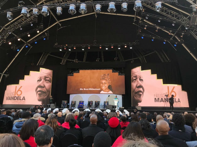 The stage is set for the annual Nelson Mandela lec
