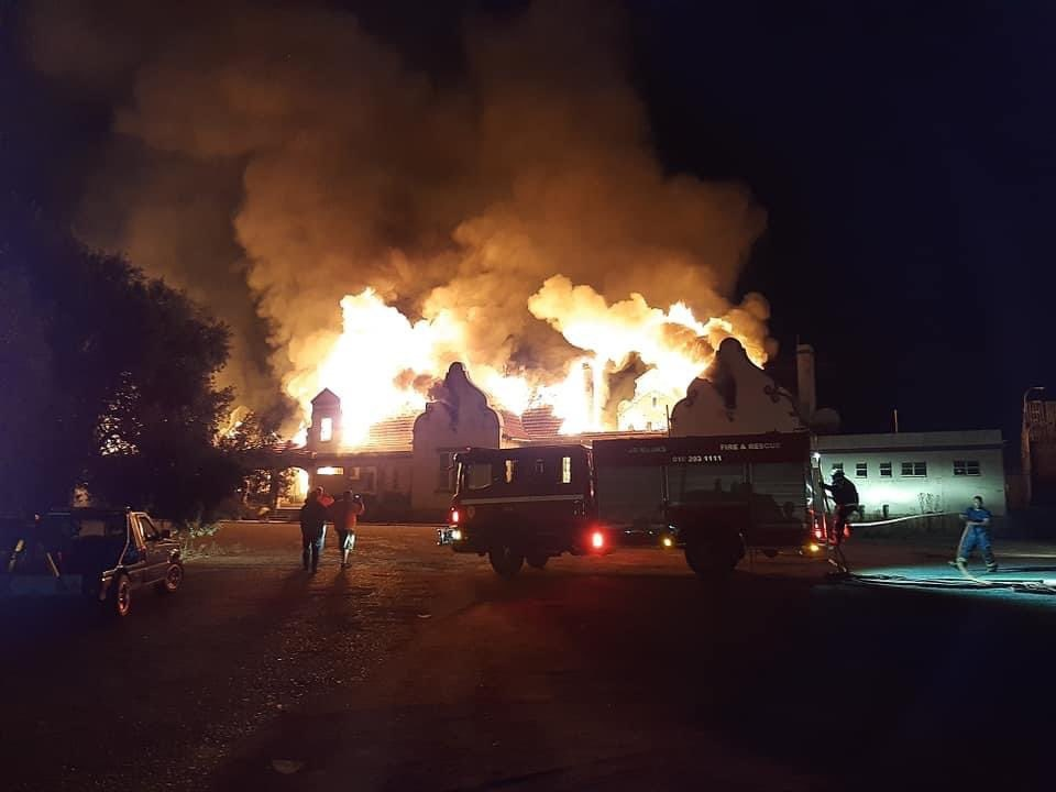 WATCH | Parts of historic Potchefstroom station gutted in fire - News24