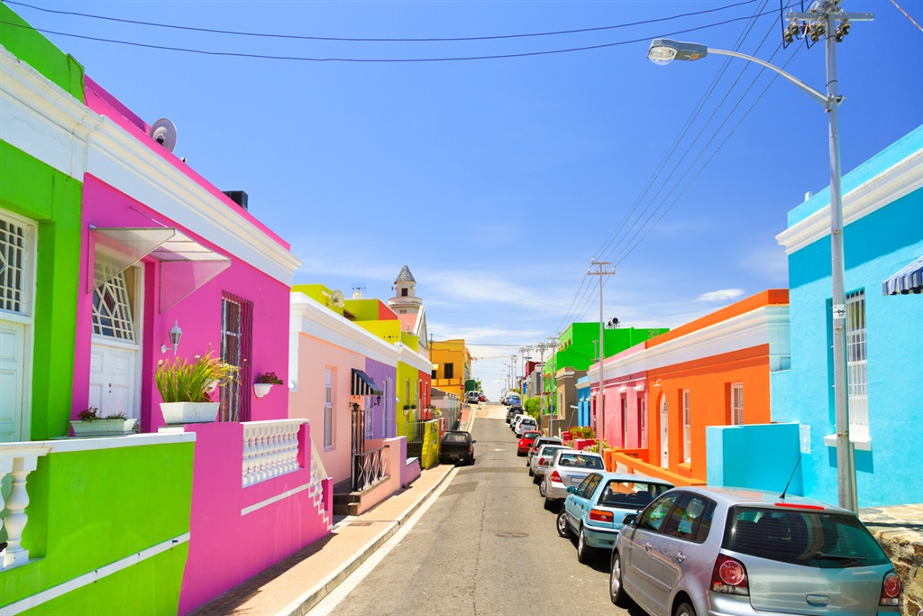 Colorful Bo-Kaap also known as Malay Quarter, Cape Town, South Africa