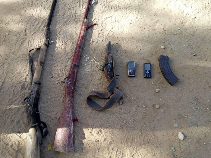 Troops seized guns and other arms from Boko Haram