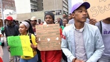 WATCH: #FeesMustFall protesters demand presidential pardon at Parliament