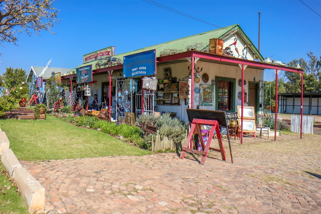 Souvenir store in the historical town of Cullinan,