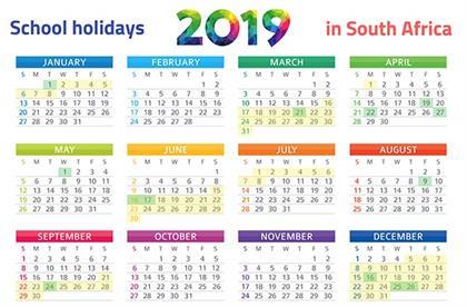 Print It Sa S School Holidays 2019 Calendar Parent24