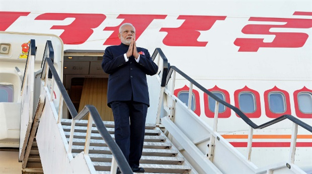 <p>The Prime Minister of India Narendra Modi arrived at Waterkloof Air Force Base in Pretoria on Wednesday to attend the summit. (GCIS, DIRCO).&nbsp;</p><p>Modi's visit to South Africa came after he earlier visited Rwanda and Uganda.&nbsp;</p>