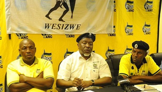 Umkhonto Wesizwe leadership (from left) Menzi Mkhize, Themba Mavundla and Mzo Shandu.