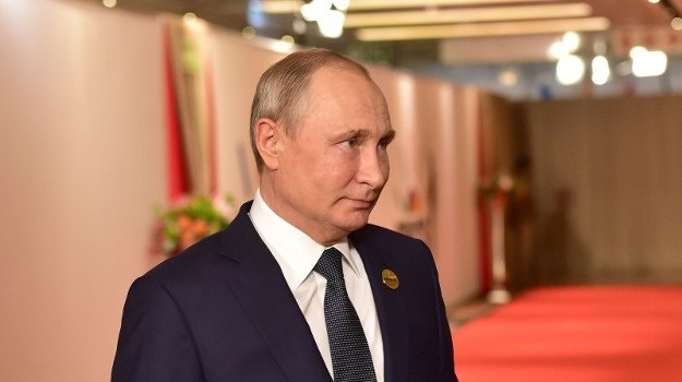 Russian President Vladimir Putin President arrives for the second day of the 2018 Brics Summit at the Sandton International Convention Centre in Johannesburg. (GCIS)