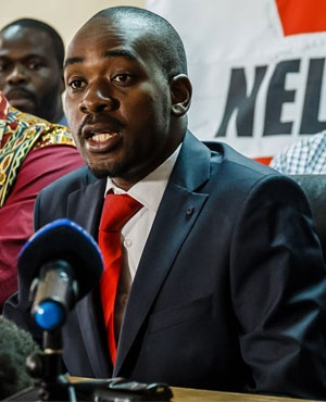 Nelson Chamisa (File: AFP)