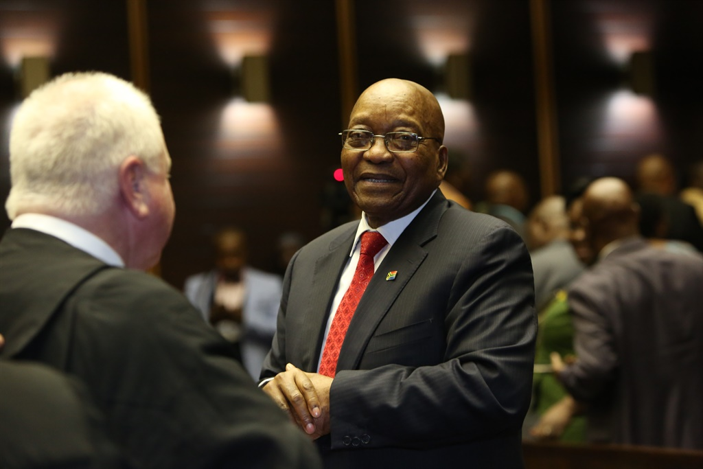 Former president Jacob Zuma with advocate Mike Hellens. (Jackie Clausen, Sunday Times, file)