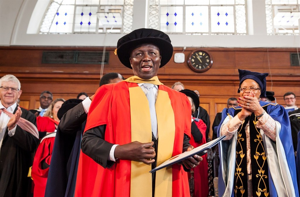 Deputy Chief Justice Dikgang Moseneke during a graduation ceremony at the University of Cape Town, South Africa. Moseneke along Ahmed Kathrada and Thuli Madonsela were awarded honorary doctorates by the university. (Photo by Gallo Images / Beeld / Deon Raath)