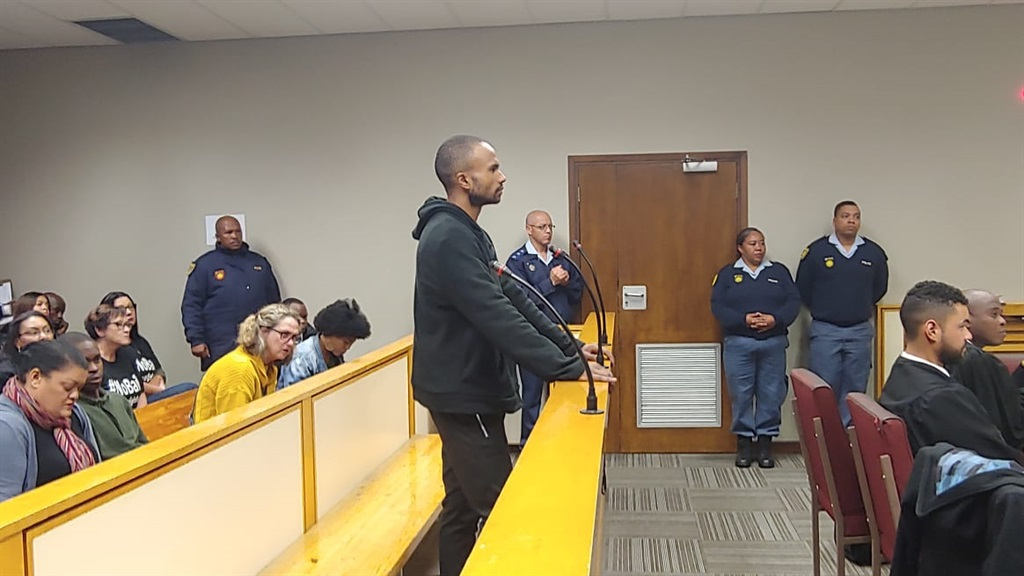 Murder-accused Kyle Ruiters in the Bellville Magistrate's Court. (PHOTO: Jaco Marais)