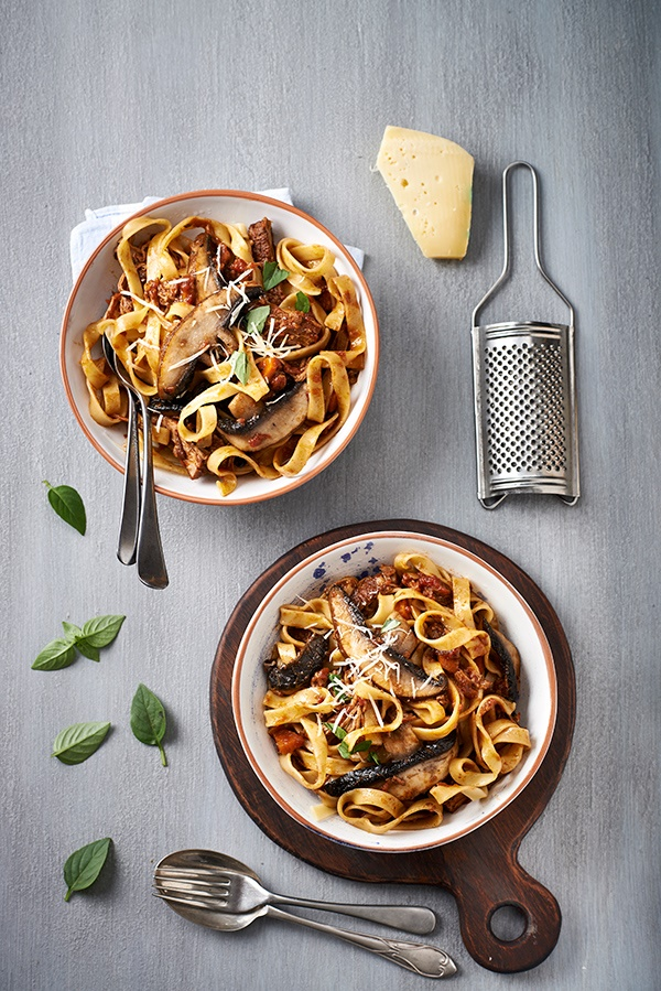 Mushroom and beef short rib ragu
