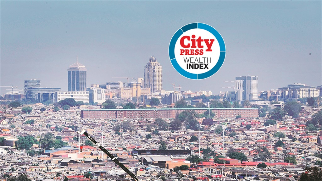 Alexandra township alongside Sandton in Johannesburg exposes thedichotomy between rich and poor .  Picture: Leon Sadiki