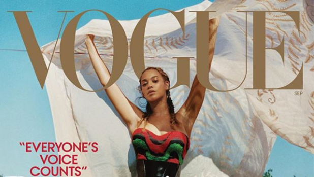Beyonce on the cover of Vogue, September 2018.