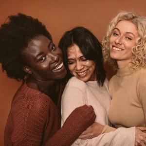 happy women in group photo