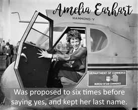 <p>One of the most famous women travellers in history, Amelia Earhart was beloved for her tenacity as a skilled pilot. Her disappearance while trying to fly around the world has fascinated everyone for decades, but the recent discovery of a women's skeleton on a Pacific island has finally shed some light on what happened to her.</p><p>(Photo: Wikimedia)</p>