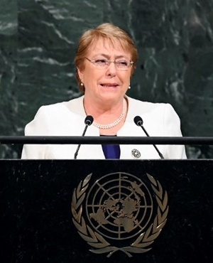 Chile's former president Michelle Bachelet. (Jewel Samad, AFP)