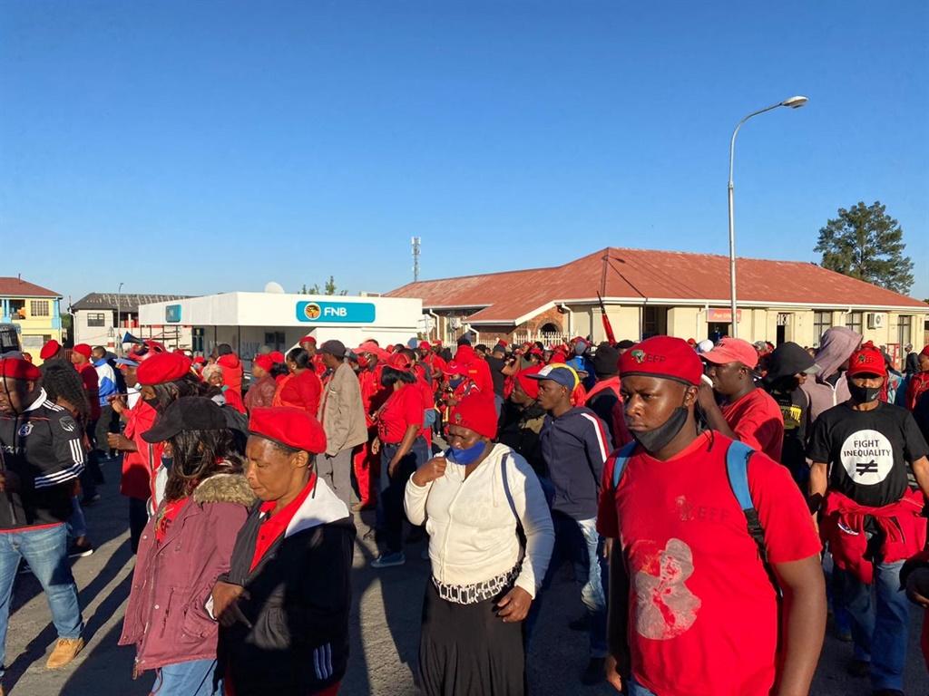 EFF supporters in Senekal