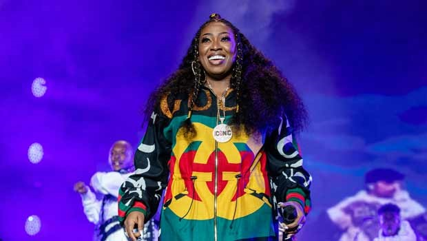 Hip-hop artist Missy Elliot performing during the