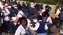 WATCH: Motorist ploughs BMW through group of pupils outside Joburg school