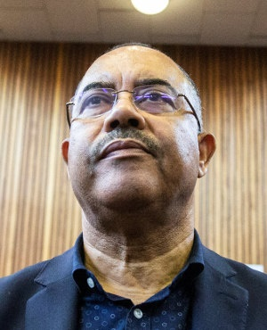 Manuel Chang, former finance minister of Mozambique, appears at the Kempton Park Magistrates court to fight extradition to the United states on January 8 2019 in Kempton Park, South Africa. (Photo credit should read WIKUS DE WET/AFP/Getty Images)
