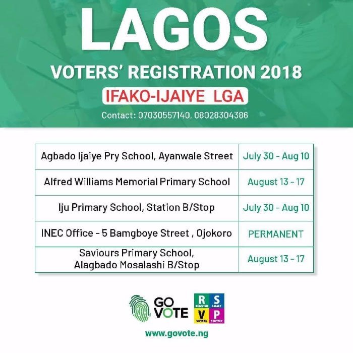 pvc registration centres in lagos state