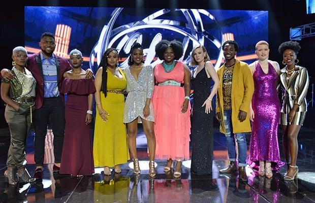 'Idols SA' top 10 contestants.