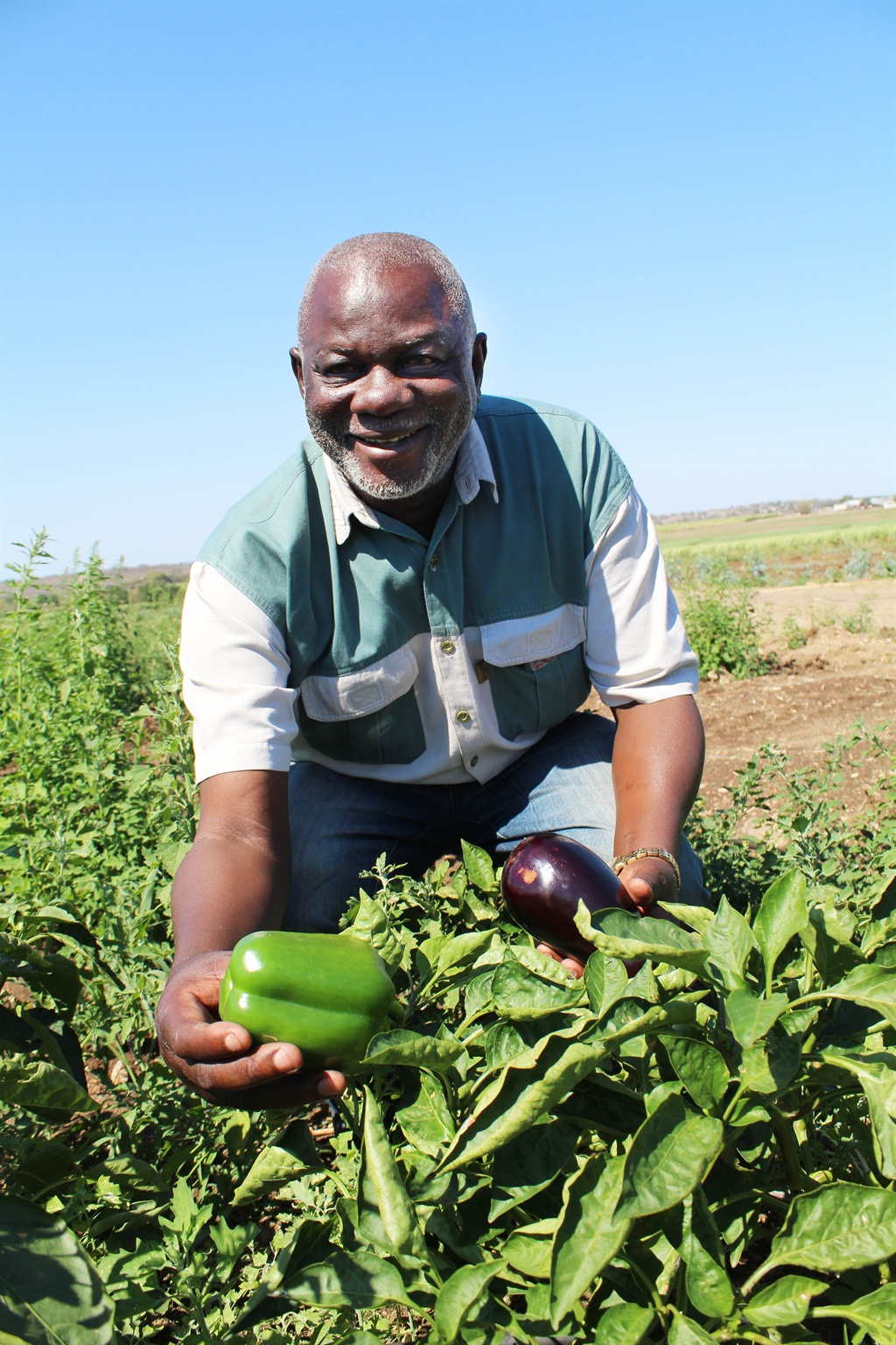 Mfana Sithole is being forced to give up his productive farm Picture: Sizwe Sama yende