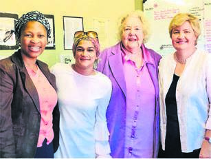 photo: supplied(From left to right) Sithuthukile Mchunu (Umvoti Aids Centre General Manager), Suhaifa Kharodia, Irmgard Rencken, and Almut Rabe.