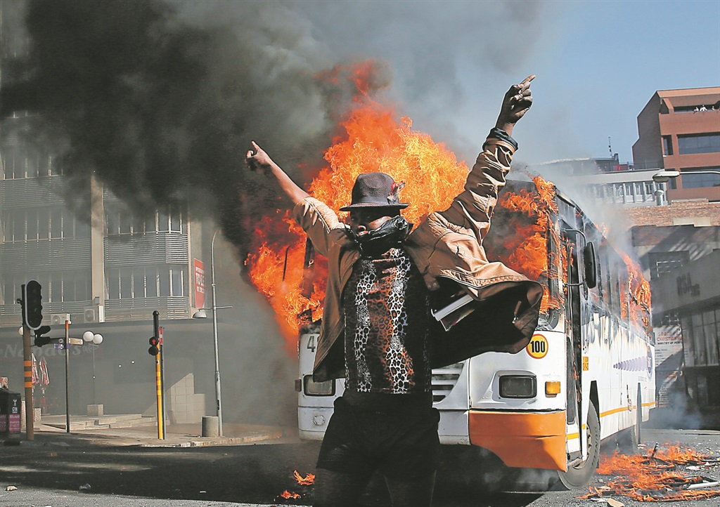 A festival Must Fall protester in October 2016 at the University of the Witwatersrand. Picture: Alon Skuy, The Times