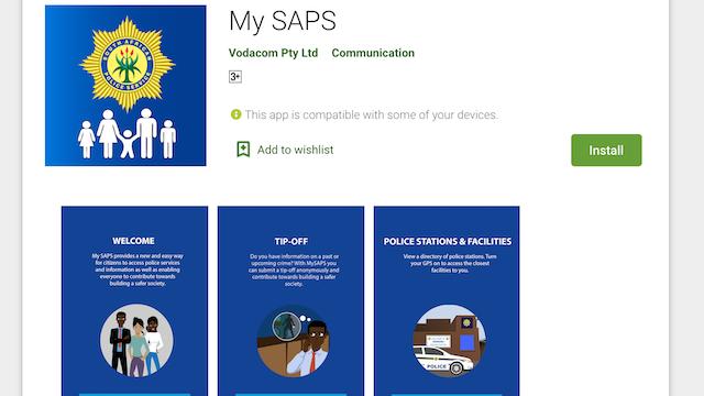 My SAPS app