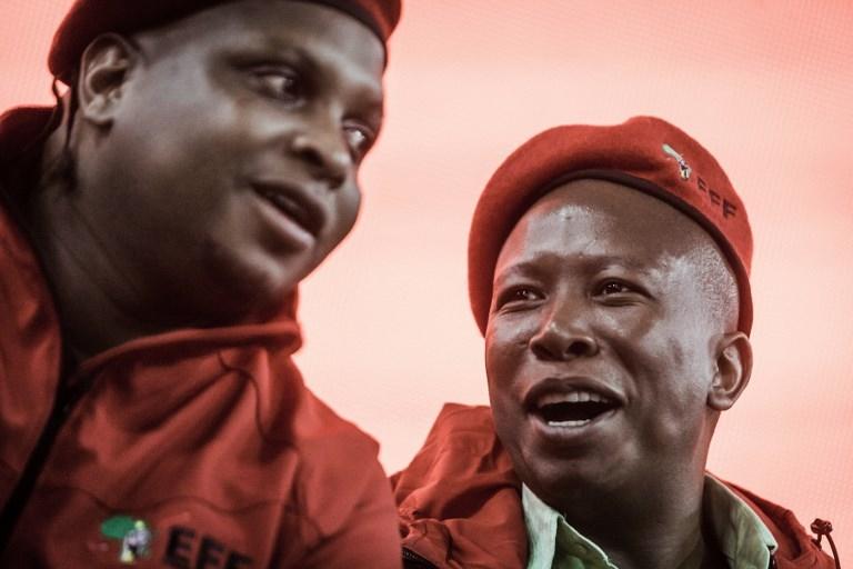 EFF leader Julius Malema and EFF Deputy President Floyd Shivambu. (Photo: AFP)