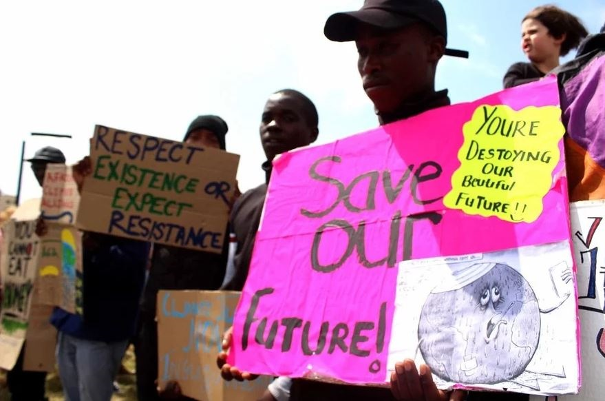 In cities across South Africa, young people protested against the human causes of climate change. (Masixole Feni, GroundUp)