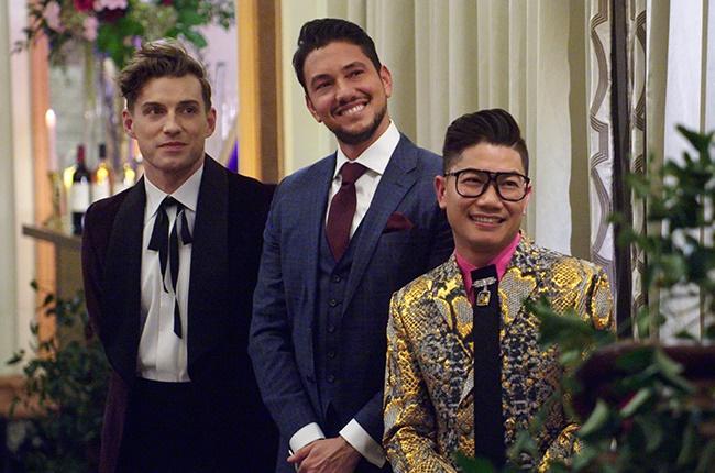 Interior designer Jeremiah Brent, chef Gabriele Bertaccini and fashion designer Thai Nguyen in 'Say I Do.'