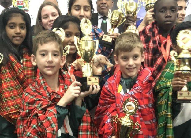 South Africa's top four chess kids at this weekend's continental championships in Kenya.