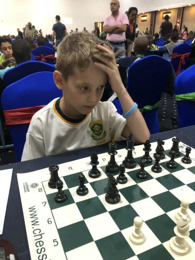 Caleb Levinton at African Chess Championships