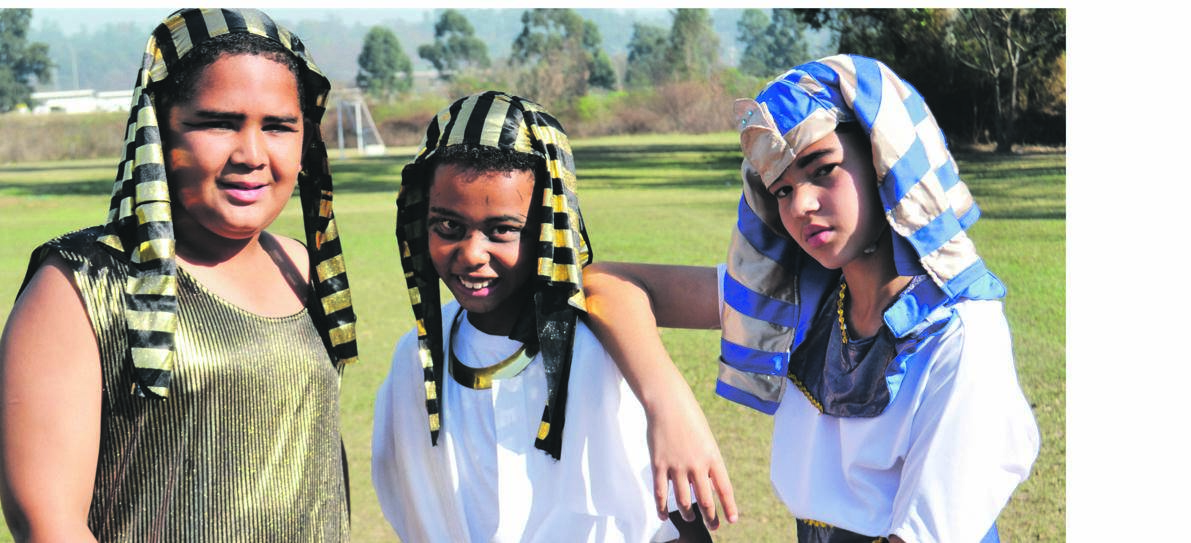 Ending the third term, and Heritage Month, with a bang, Maritzburg Christian School Grade 5 pupils Jared-Lee Julius, Atayo Booysen and Jesse Van Der Byl finished the term by studying and finding out more about the mysterious lives of the ancient Egyptians. Heritage Day was celebrated yesterday, September 24, however the whole month is aimed at celebrating and recognising the cultural wealth of South Africa.PHOTO: SUPPLIED