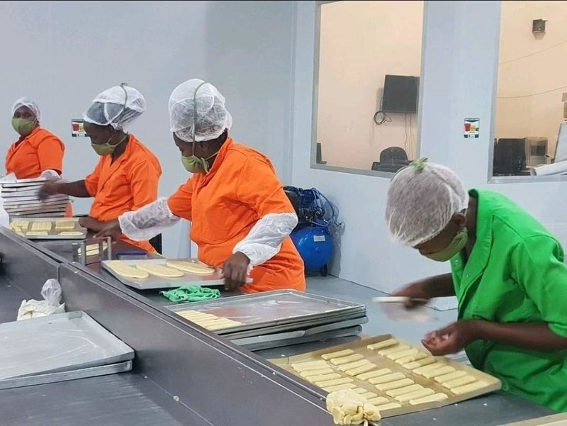 Women hard at work in the factory. (Supplied by Khayelitsha Cookies)