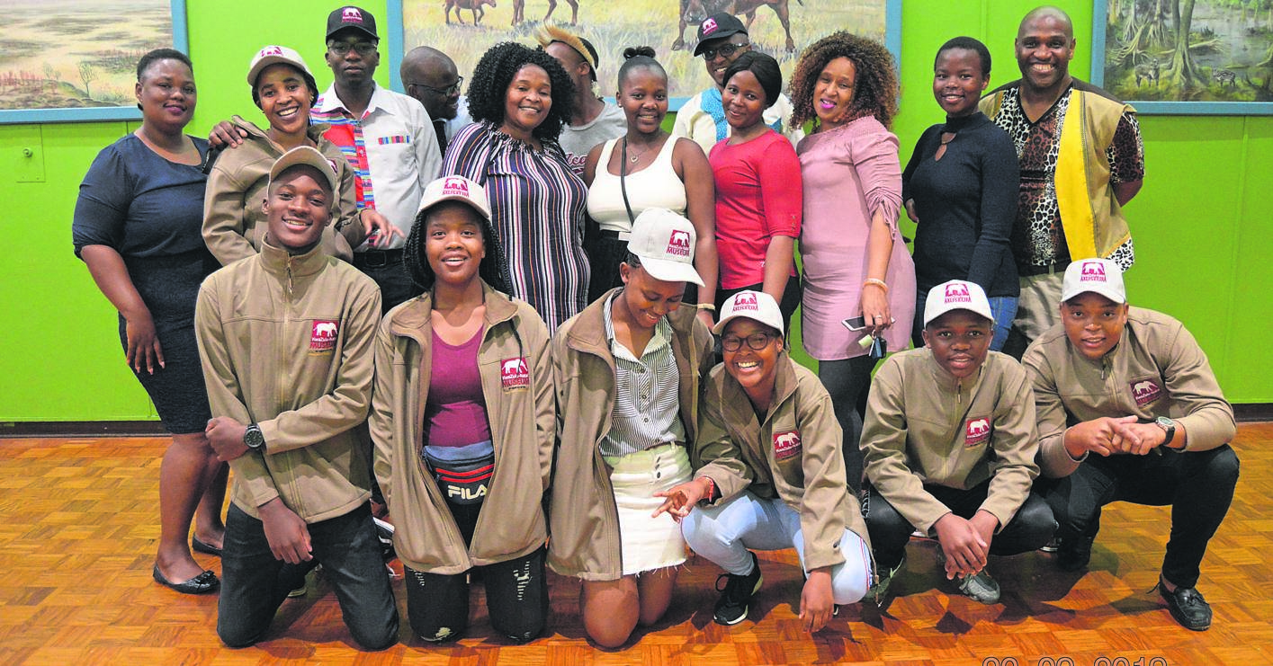 KZN Museum staff with the museum's speech competition winners before they head off to the Robben Island Spring School.PHOTO: SUPPLIED